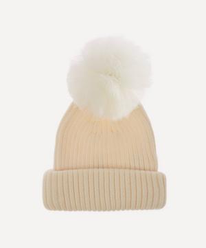 Tulle Pom Pom Merino Wool Beanie Hat