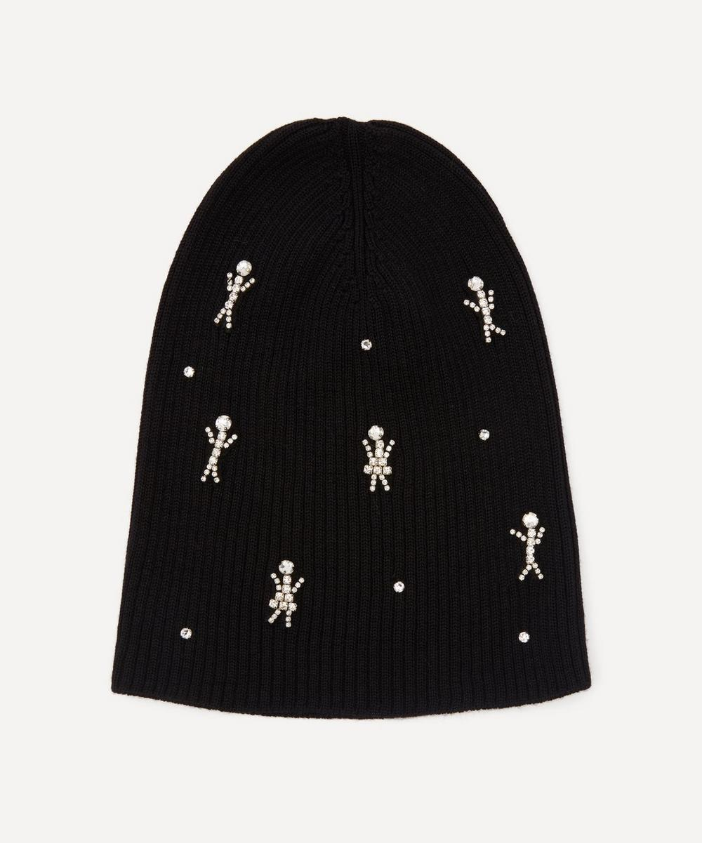 Halo & Co - Happy Families Crystal Figures Merino Wool-Blend Beanie Hat