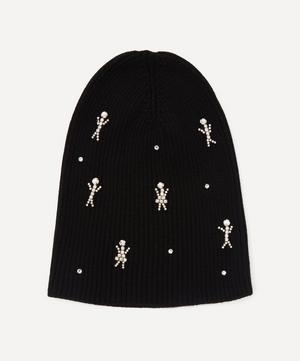 Happy Families Crystal Figures Merino Wool-Blend Beanie Hat