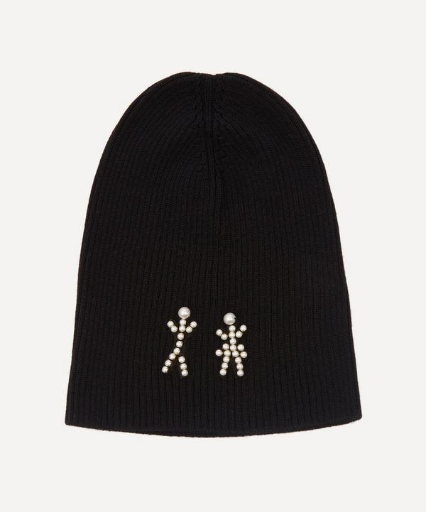 Halo & Co - The Pearl People Crystal Figures Merino Wool-Blend Beanie Hat