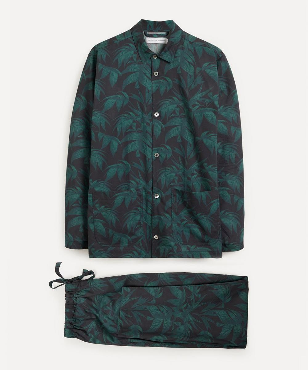 Desmond & Dempsey - Byron Leaf Cotton Pyjama Set