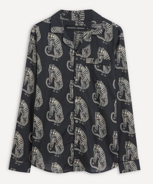 Desmond & Dempsey - Tiger Cotton Pyjama Shirt