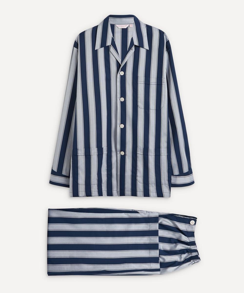 Derek Rose - Royal Satin Striped Pyjama Set