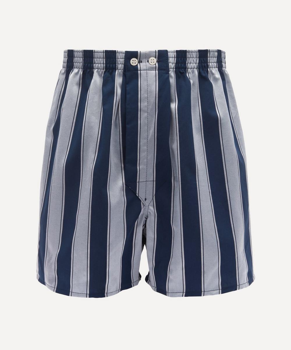 Derek Rose - Royal Striped Cotton Boxer Shorts