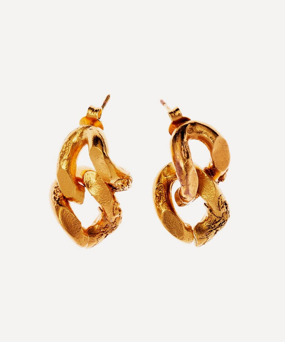 Alighieri - Gold-Plated The Fractured Link Drop Earrings