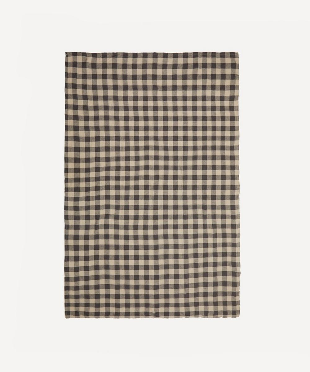 Society of Wanderers - Licorice Gingham Tablecloth