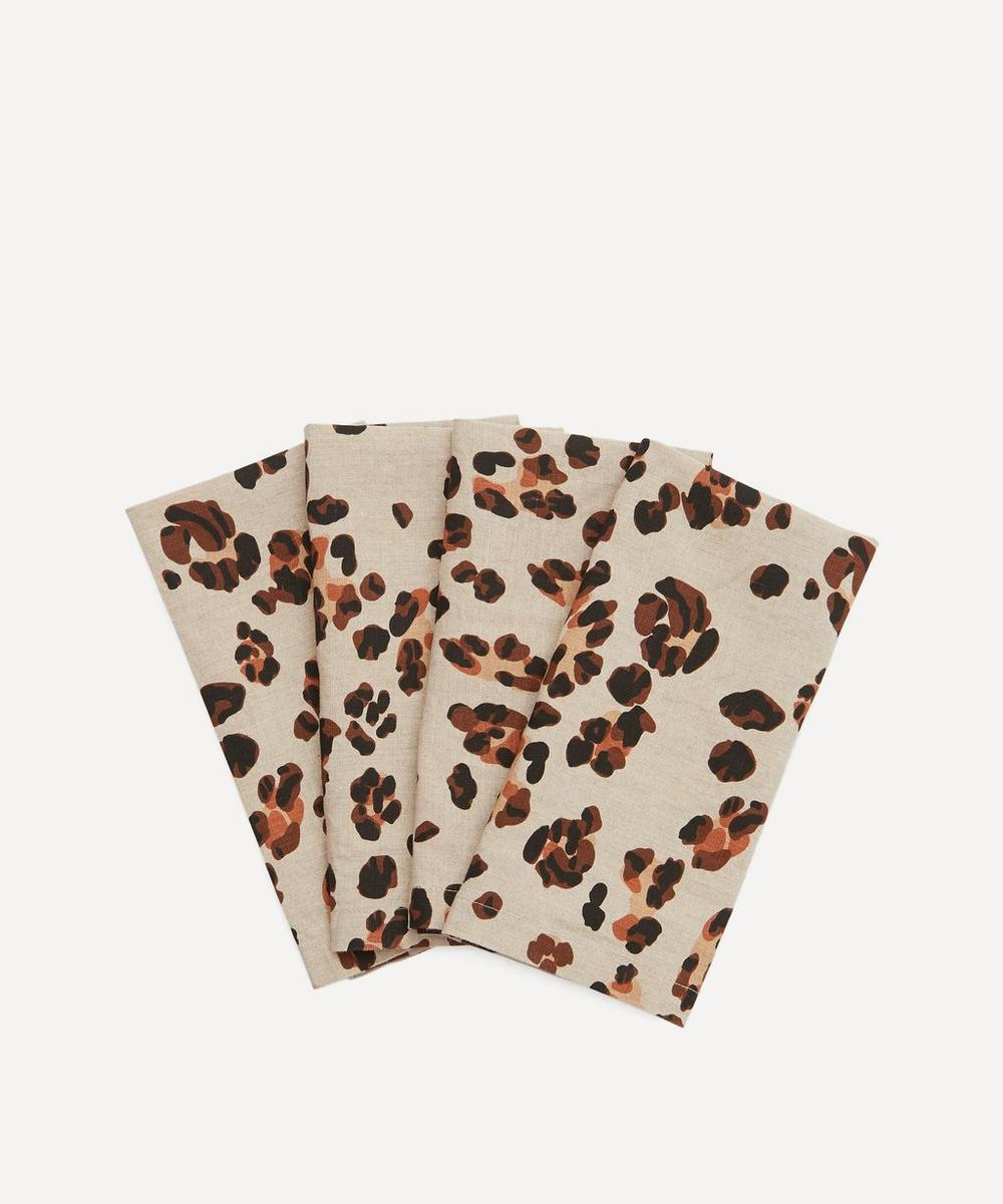Society of Wanderers - Leopard Napkins Set of Four