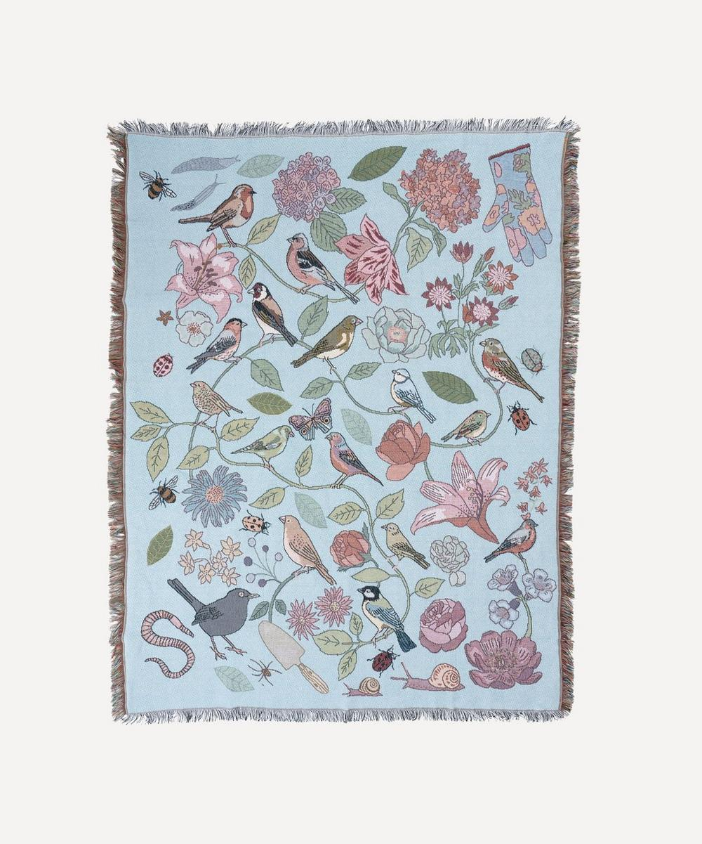 Karen Mabon - Garden Birds Woven Throw