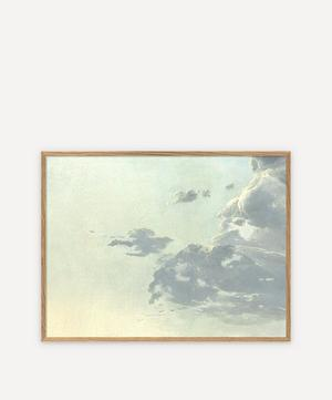 Green Clouds Framed Print