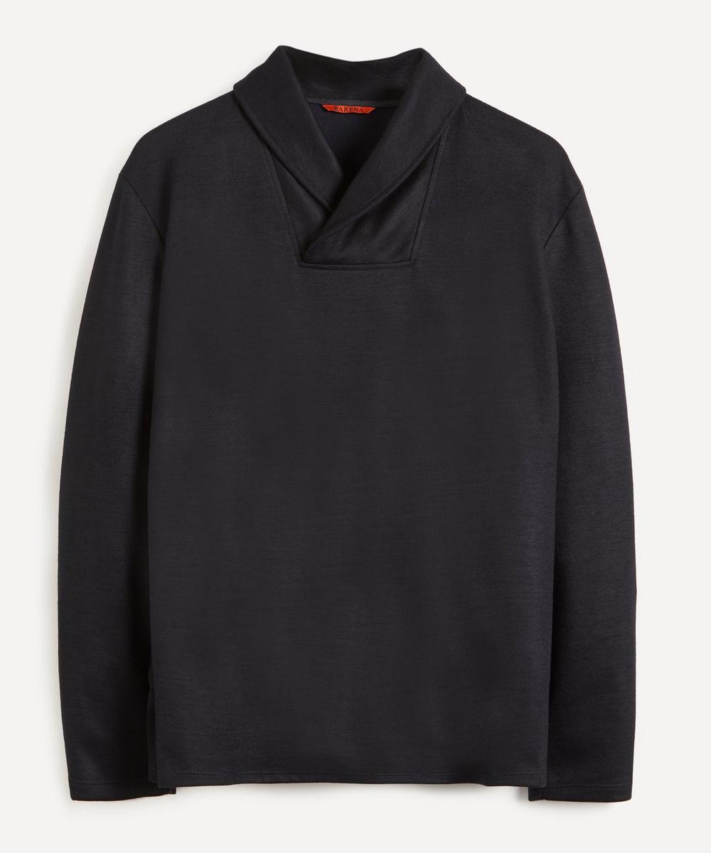 Barena - Wrap-Collar Cotton-Blend Sweater