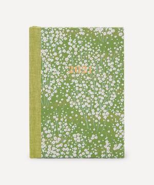 Medium Weekly White Blossom Diary 2021