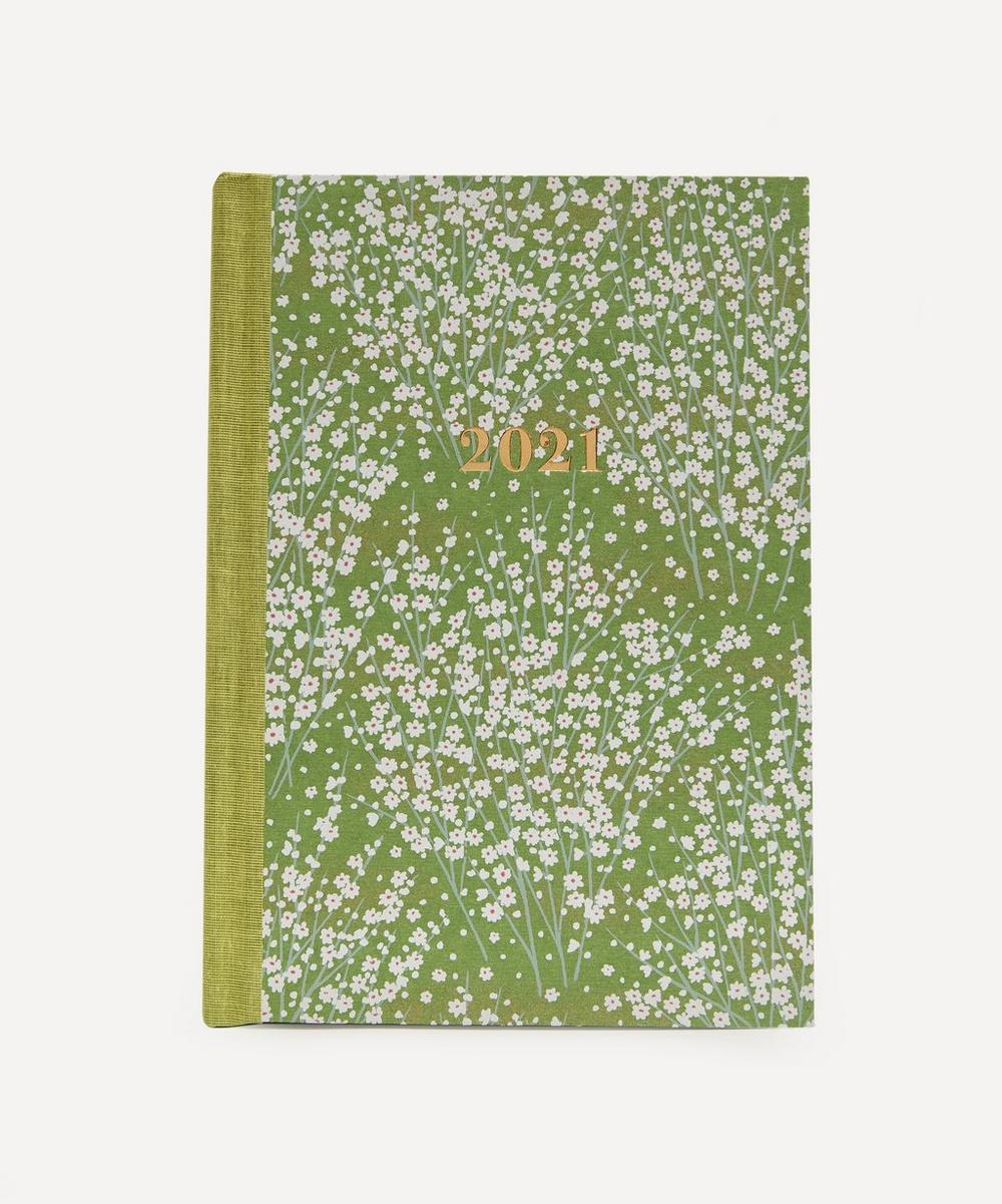 Esmie - Large Weekly White Blossom Diary 2021