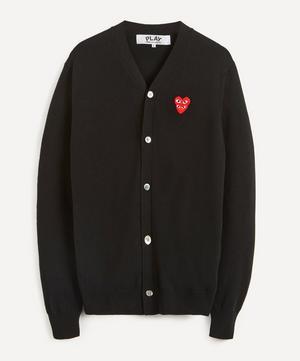 Heart Logo Patch Wool Cardigan
