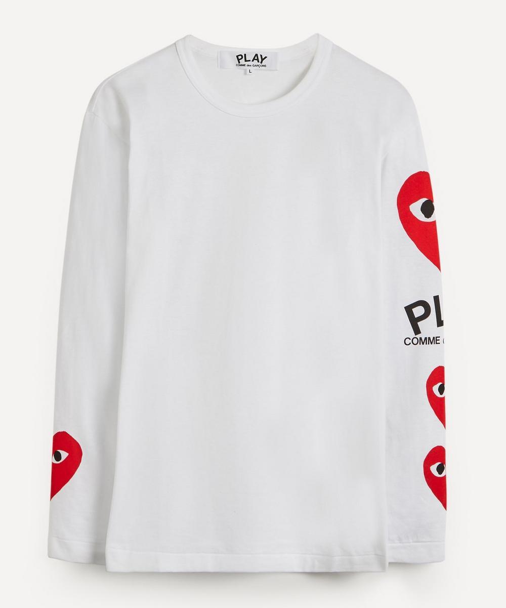 Comme des Garçons Play - Heart Logo Print Long-Sleeve T-Shirt