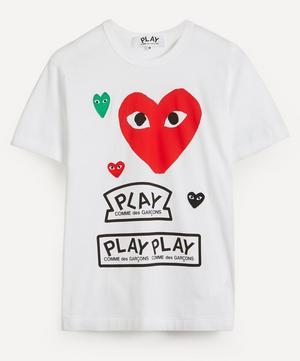 Large Heart Logo Cotton T-Shirt