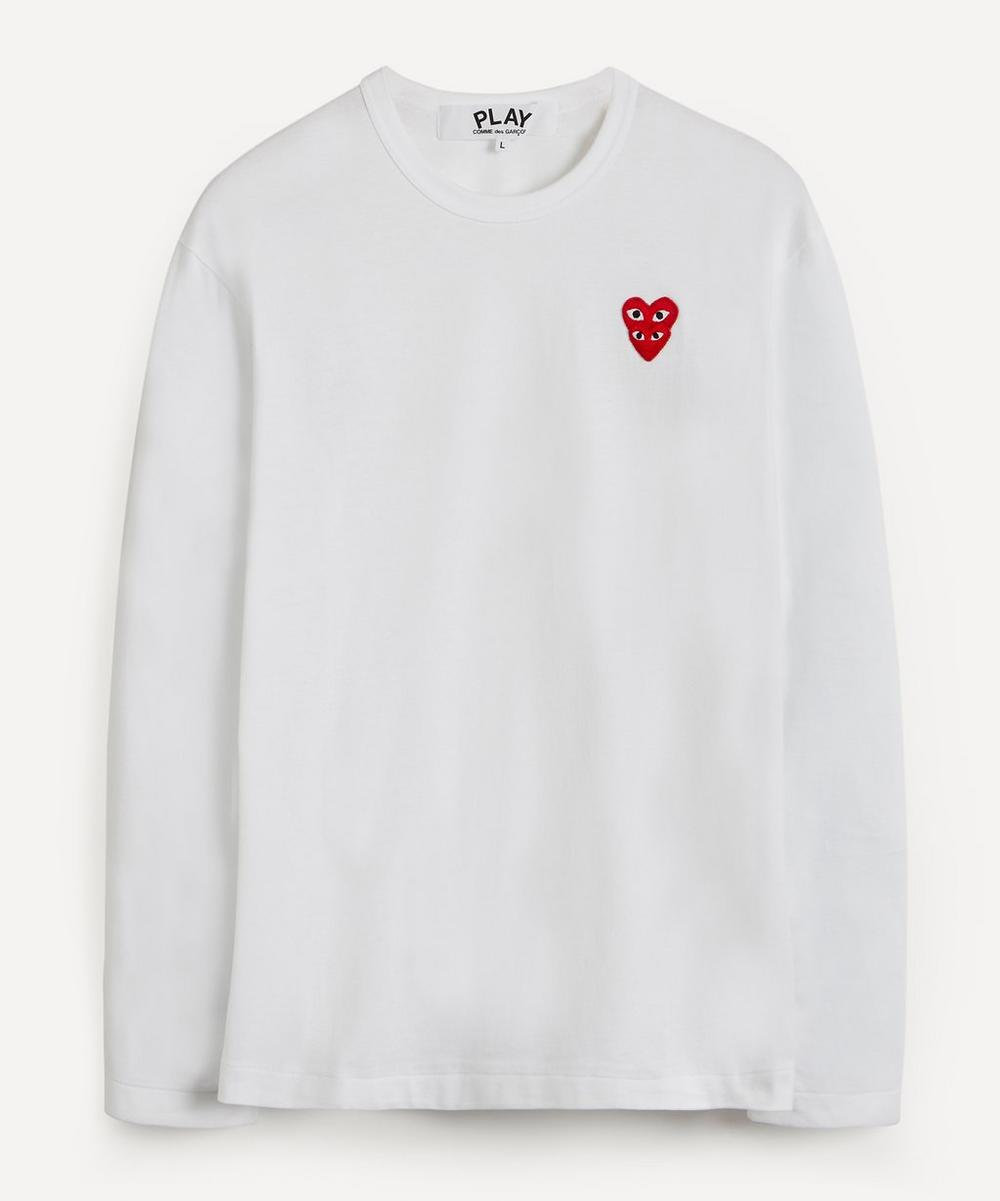 Comme des Garçons Play - Heart Logo Patch Long-Sleeve T-Shirt
