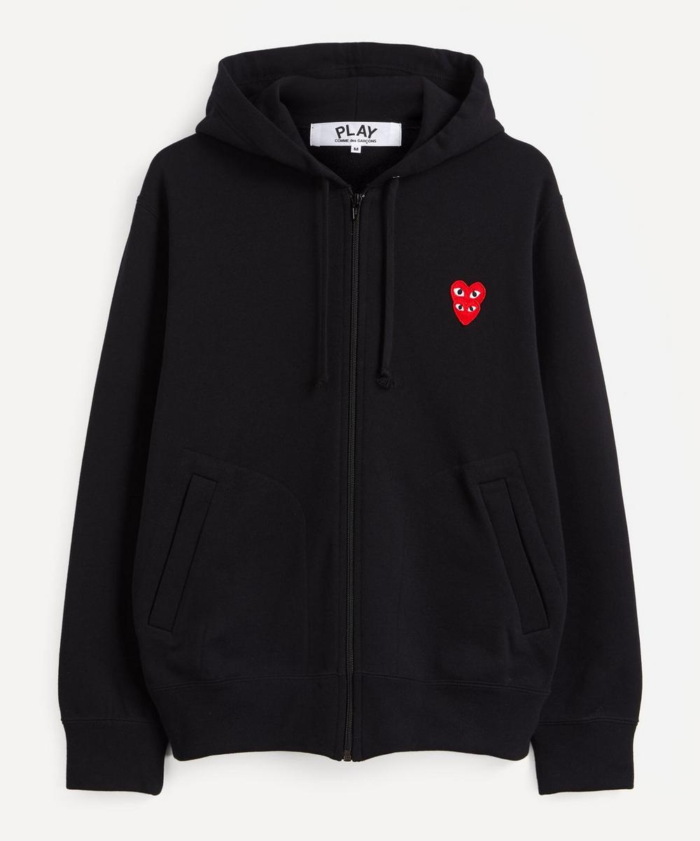 Comme des Garçons Play - Heart Logo Patch Zip-Up Hoodie