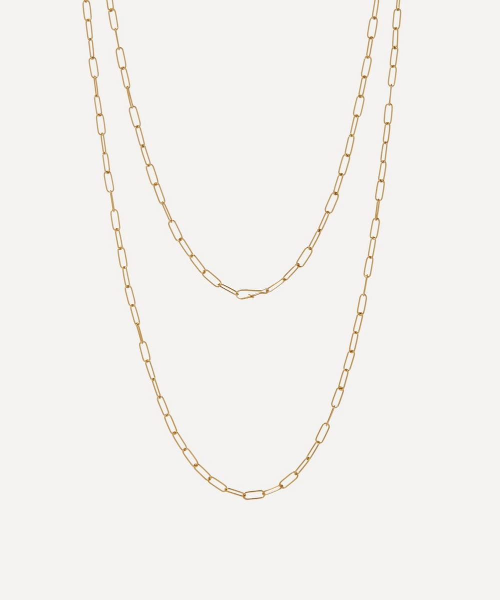 Annoushka - 14ct Gold Mini Long Cable Chain Necklace