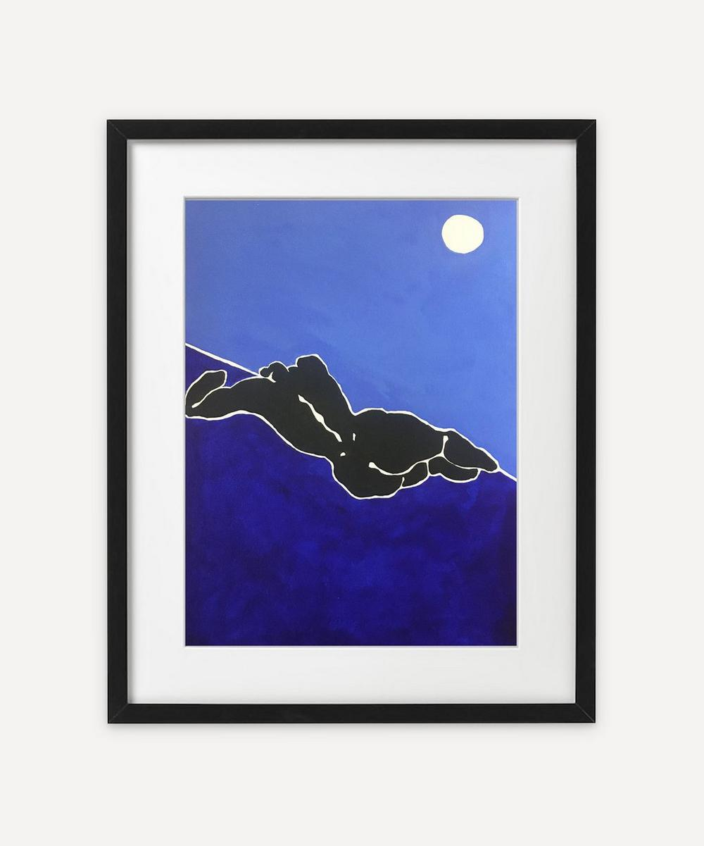Rebecca Howarth - Blue Recline Framed Original Painting