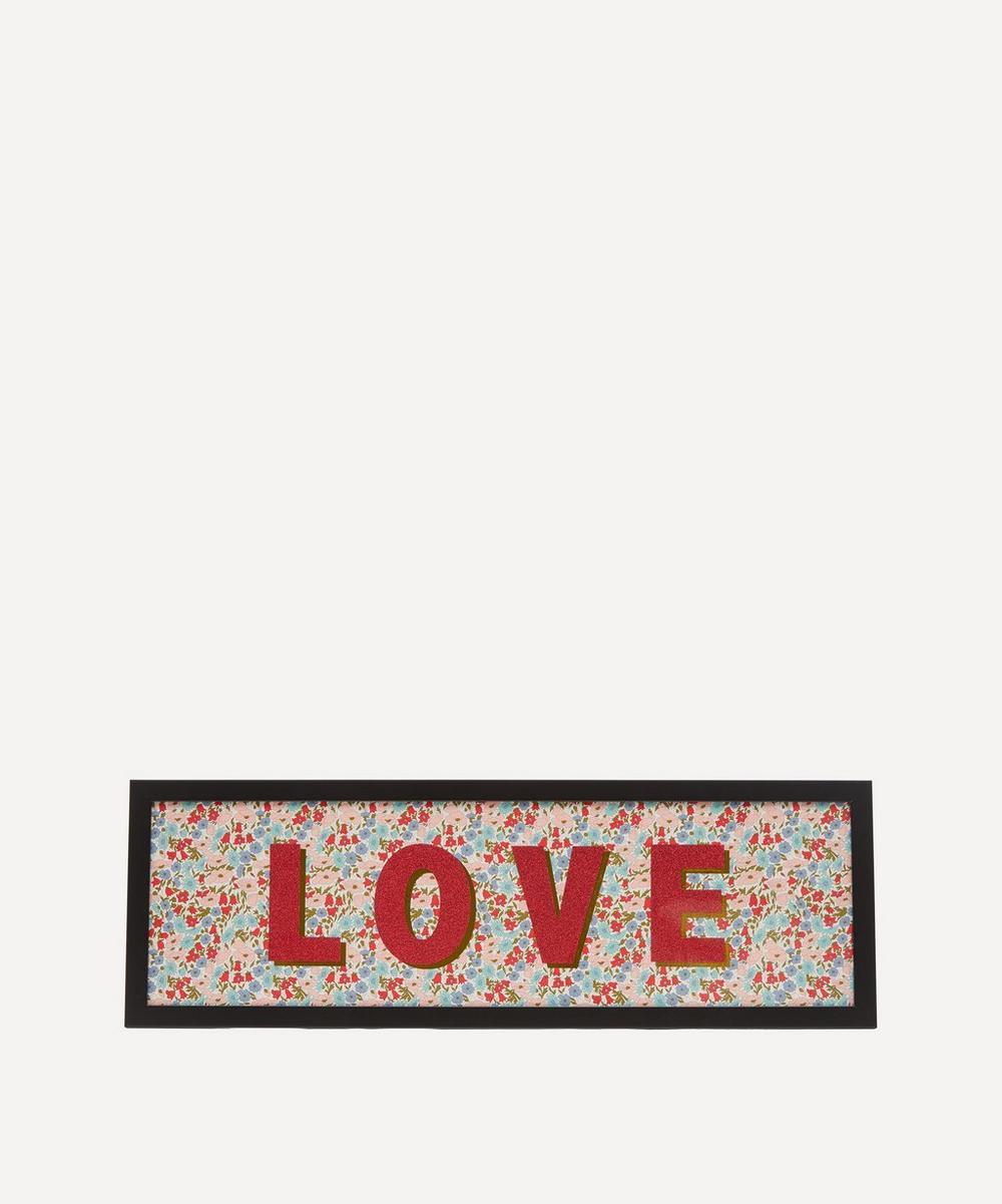 Catherine Colebrook - Love Liberty Fabric Framed Print