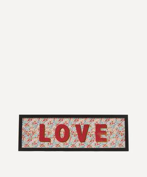 Love Liberty Fabric Framed Print