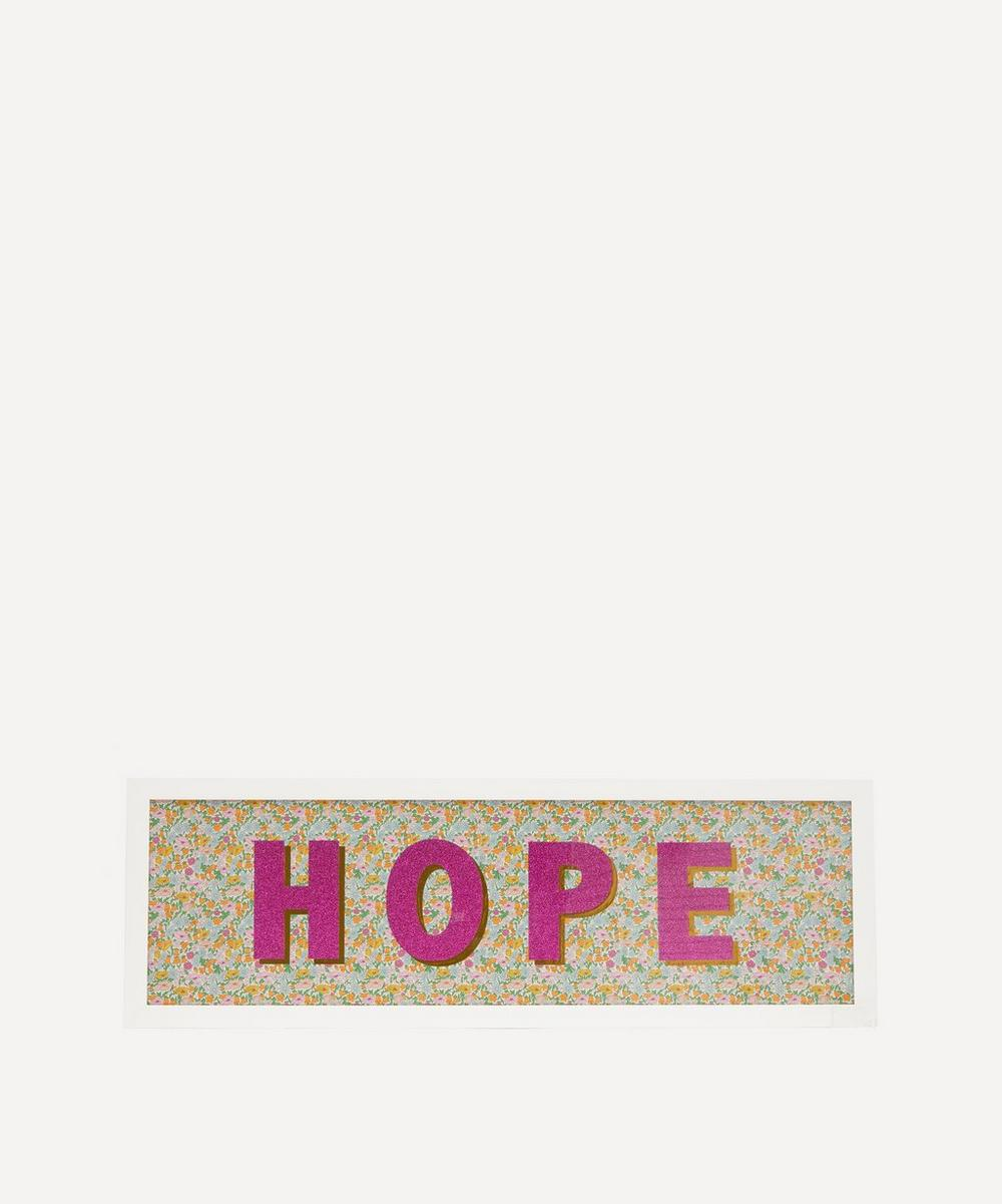 Catherine Colebrook - Hope Liberty Fabric Framed Print