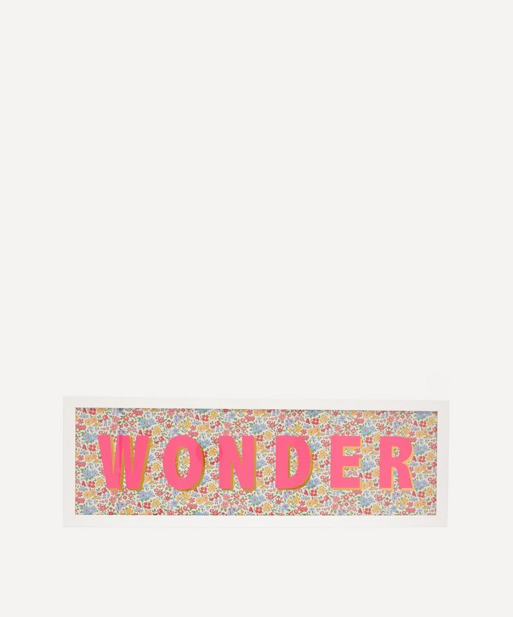 Catherine Colebrook - Wonder Liberty Fabric Framed Print