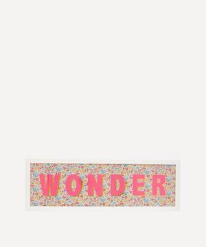 Wonder Liberty Fabric Framed Print