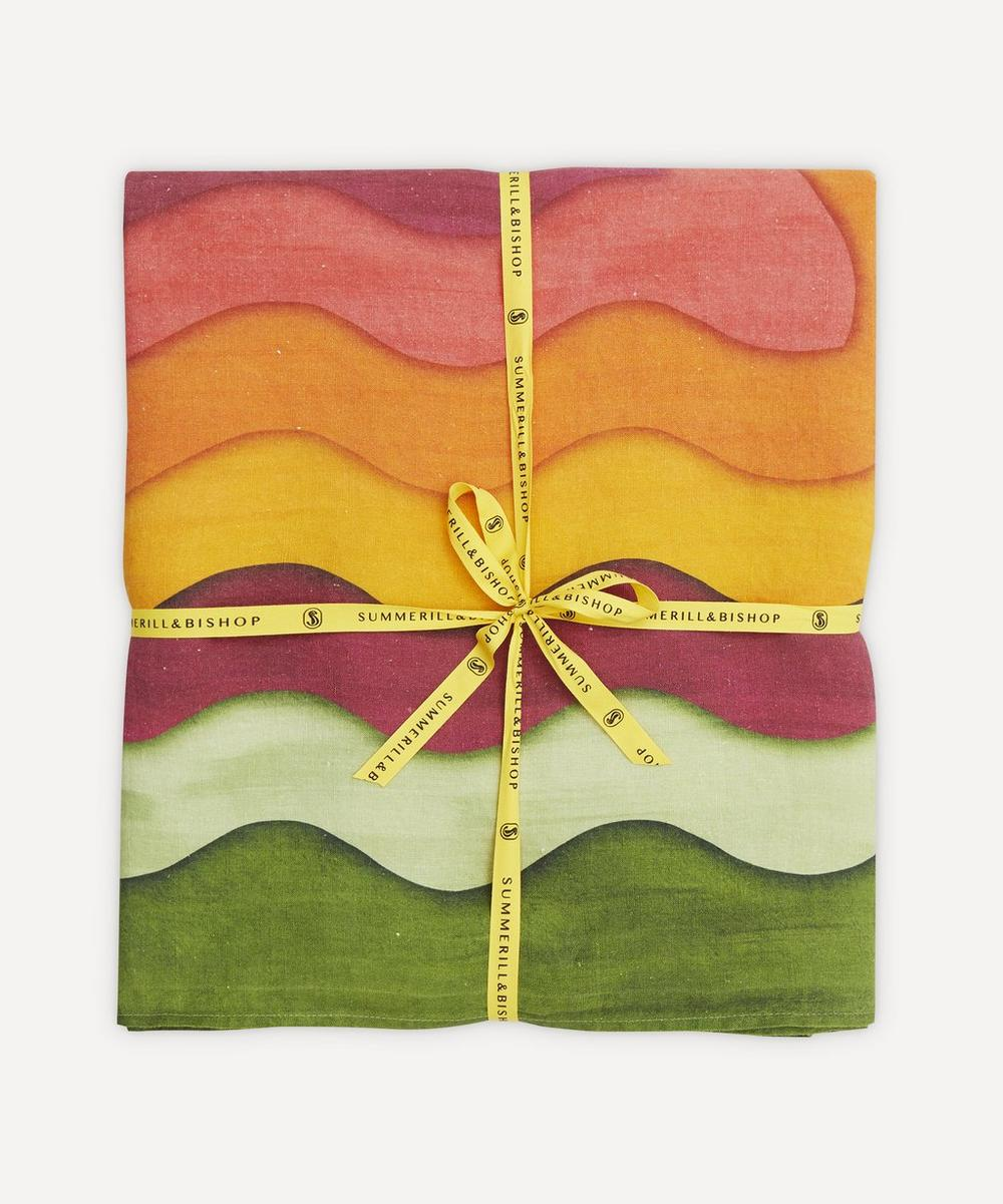 Summerill & Bishop - Winter Rainbow Linen Tablecloth