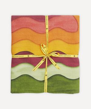 Winter Rainbow Linen Tablecloth