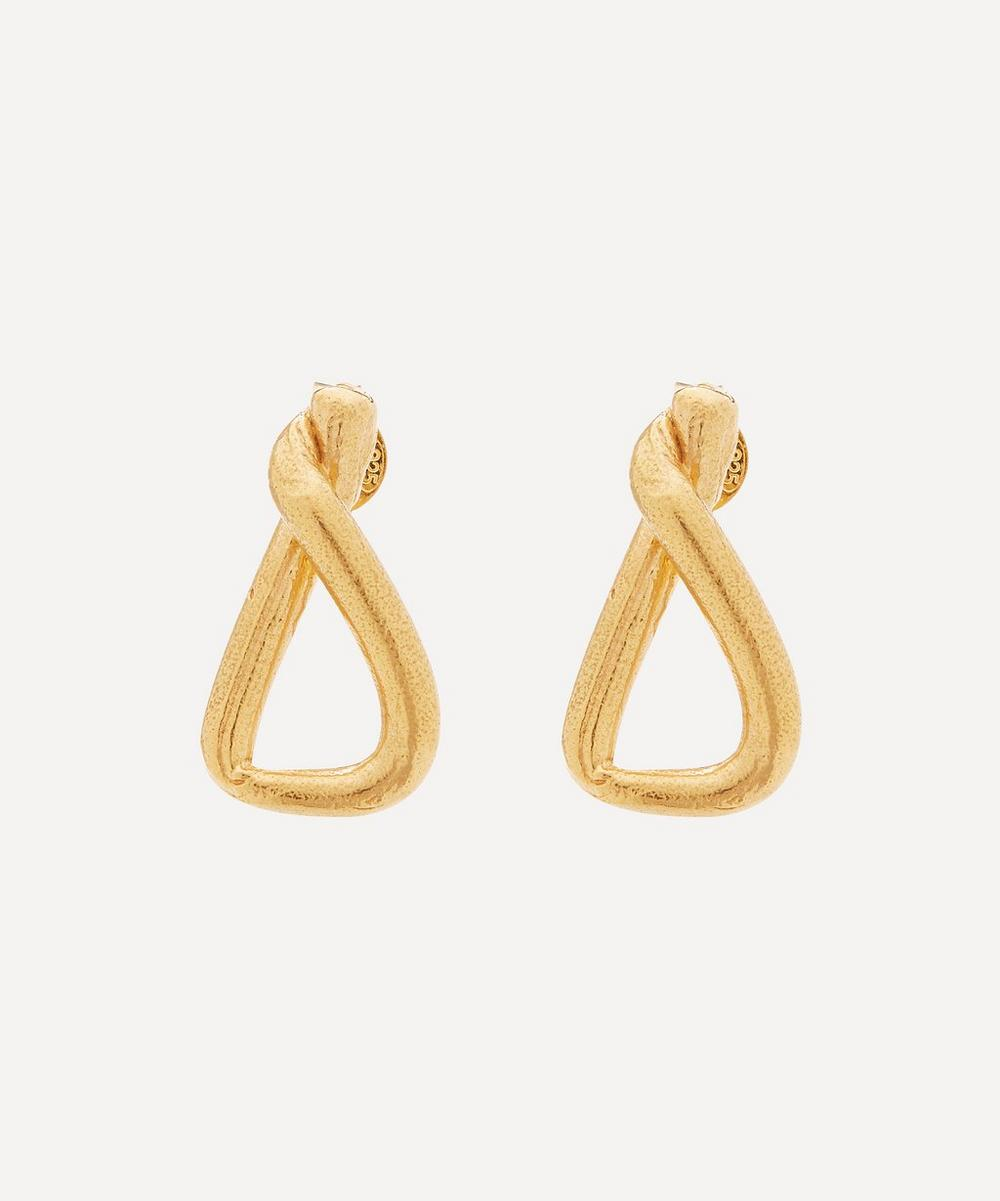Alighieri - Gold-Plated The Trembling Bough Stud Earrings