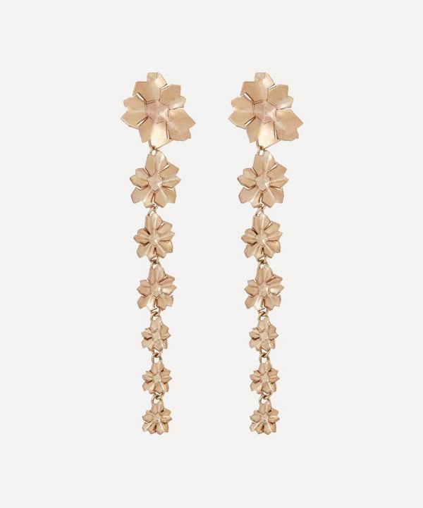 Liberty - 9ct Gold Handmade Ianthe Star Earrings