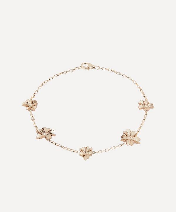 Liberty - 9ct Gold Handmade Ianthe Star Bracelet