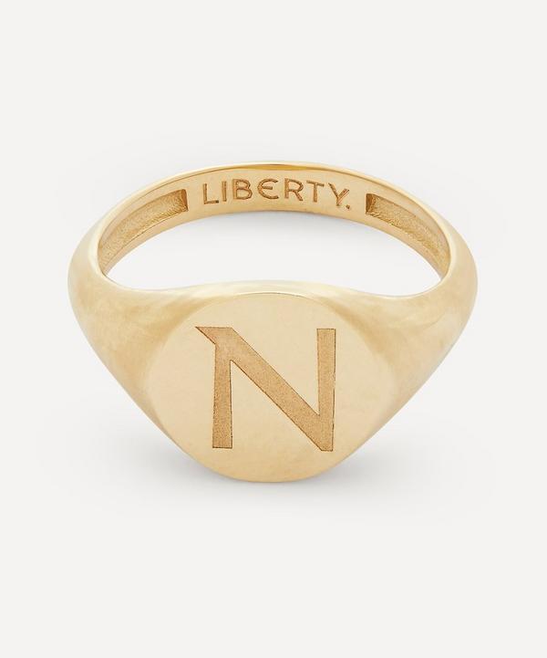 Liberty - Gold Initial Liberty Signet Ring - N