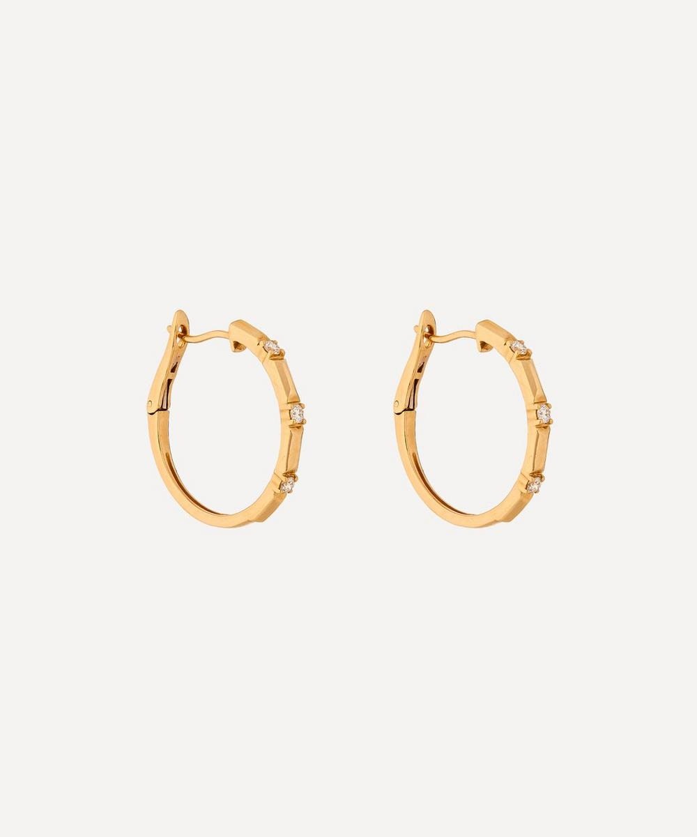 Roxanne First - Gold Diamond Hoop Earrings
