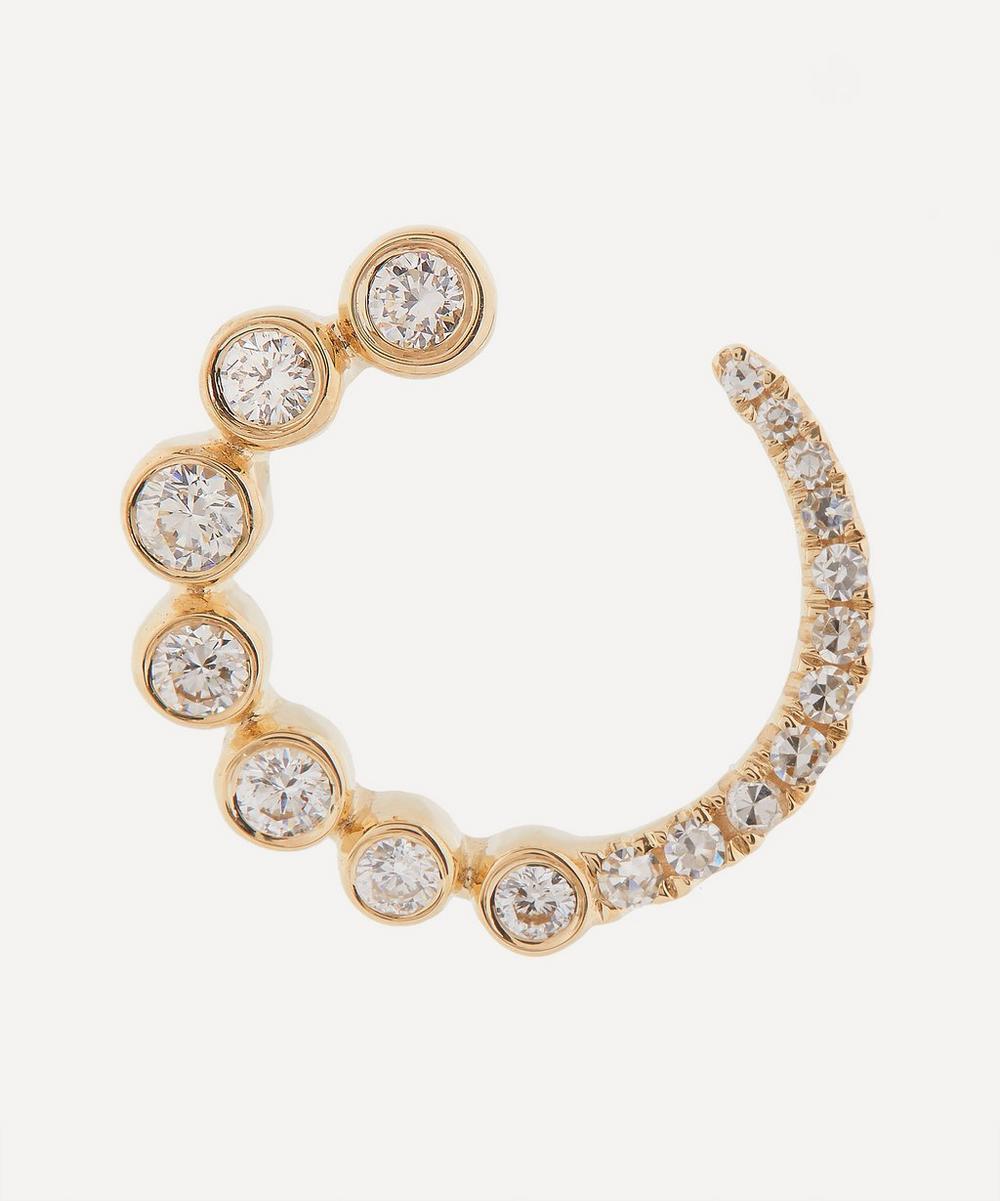 Roxanne First - Gold Diamond Circle Hoop Earring
