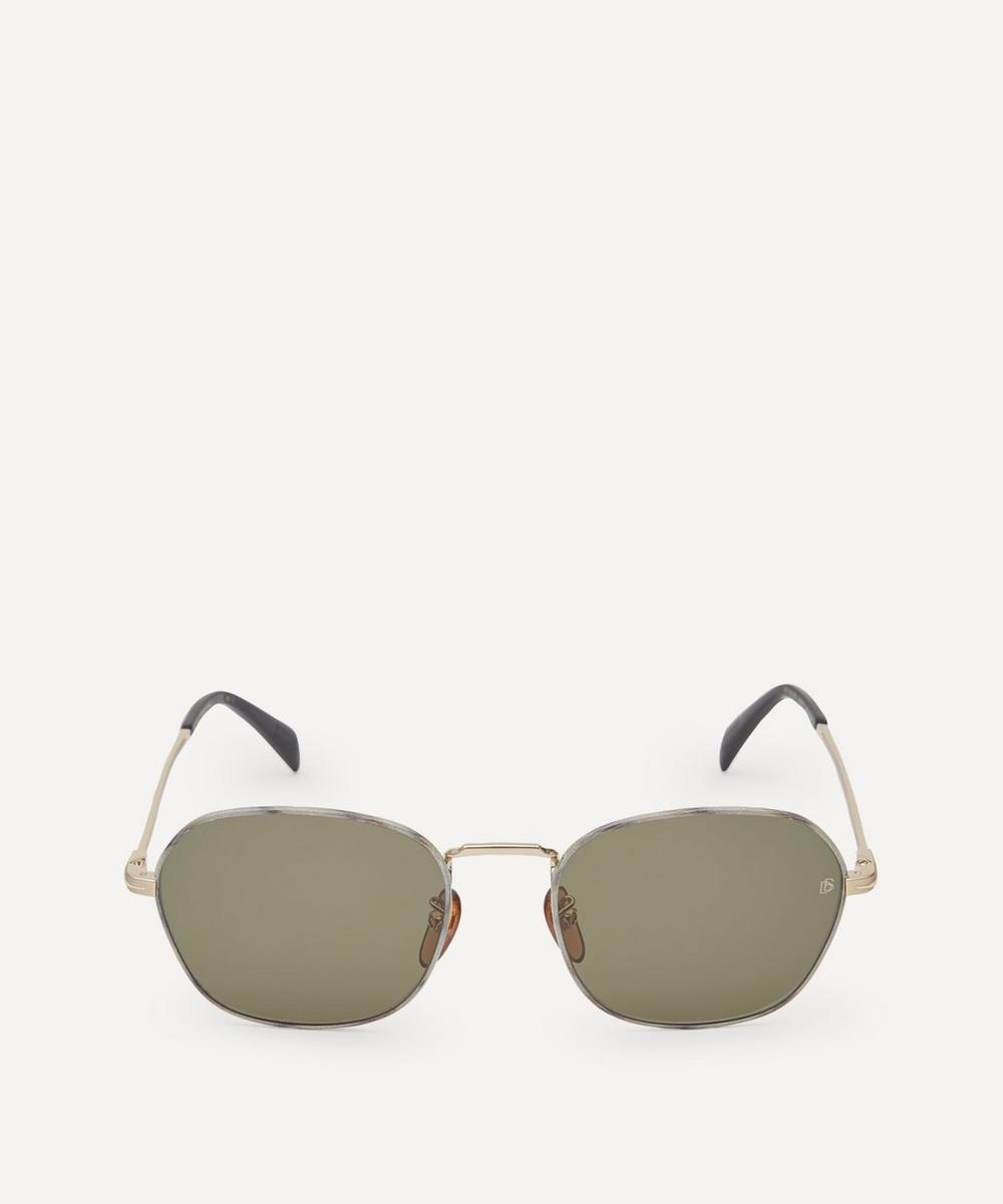 Eyewear by David Beckham - Square-Frame Metal Sunglasses
