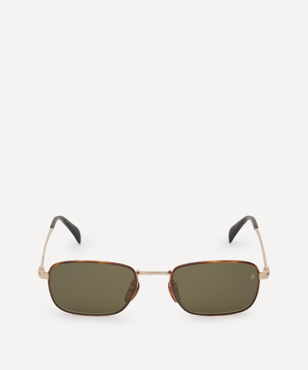 Eyewear by David Beckham - Small Rectangular Metal and Acetate Sunglasses