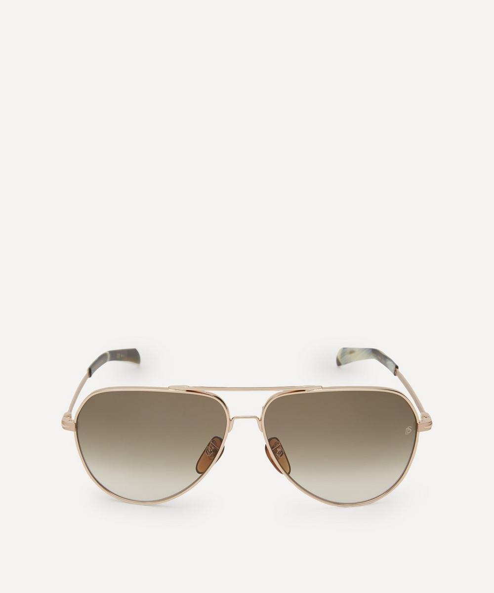 Eyewear by David Beckham - Aviator Metal Sunglasses