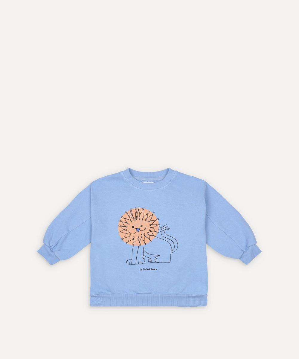 Bobo Choses - Pet a Lion Cotton Sweatshirt 2-8 Years image number 0