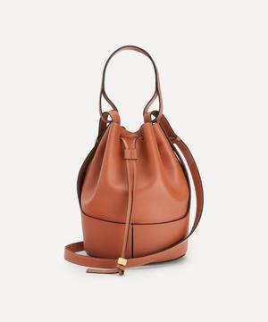 Large Balloon Leather Bucket Bag