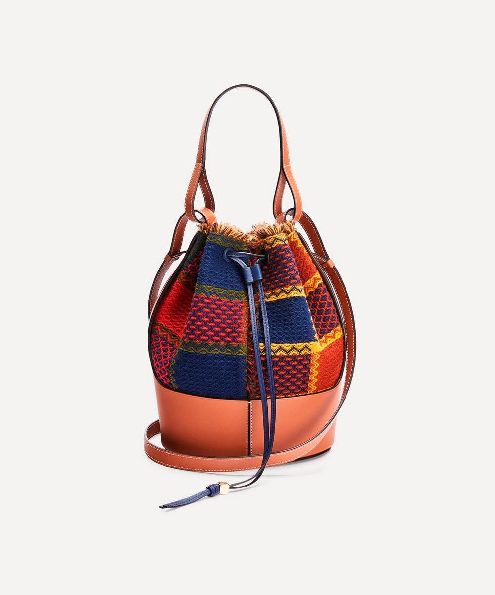 Loewe - Balloon Tartan Leather Bucket Bag