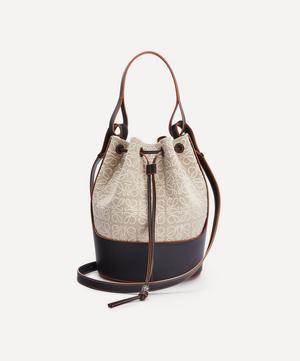 Balloon Anagram Linen and Leather Bucket Bag