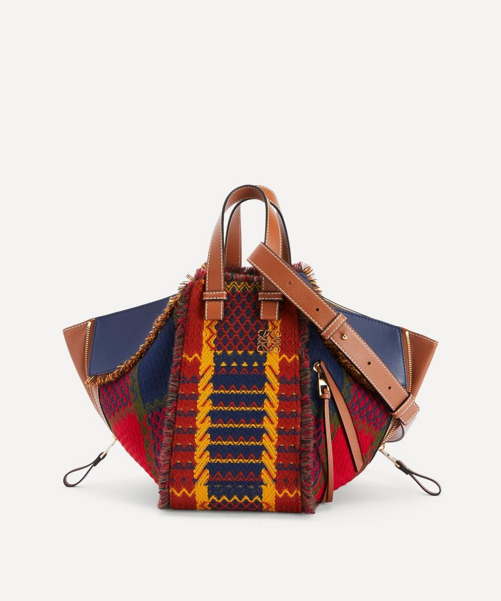 Loewe - Small Hammock Leather and Tartan Bag
