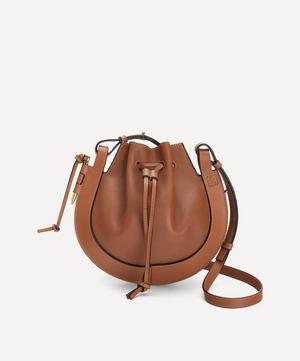 Small Horseshoe Leather Saddle Bag