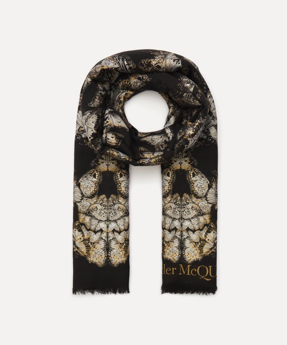 Alexander McQueen - Butterfly Skull Wool-Blend Scarf