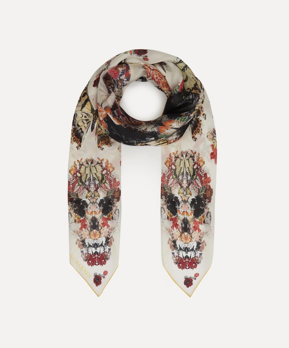 Alexander McQueen - Botanical Paisley Silk Scarf