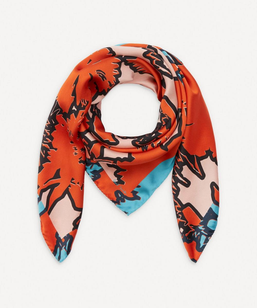 Paul Smith - Rave Floral Silk Scarf