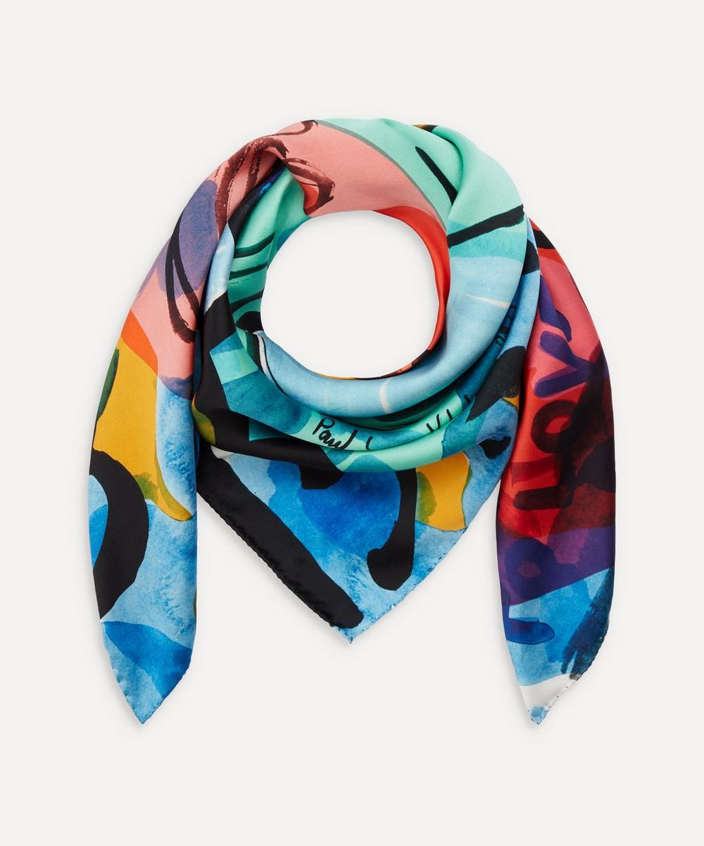 Paul Smith - Say Yes To Love Silk Scarf