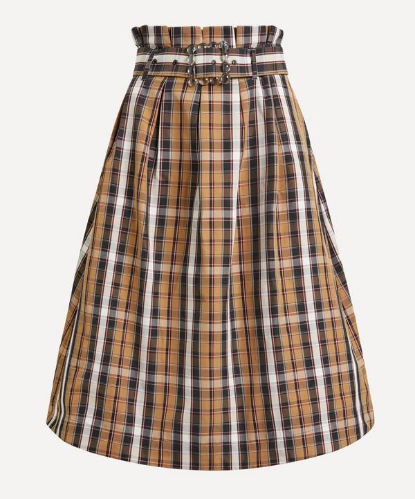 Shrimps - Finlay Paperbag-Waist Checked-Taffeta Skirt